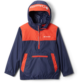 Columbia Bloomingport Windbreaker Jacke Kinder nocturnal/bright poppy/white